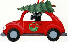 scottish terrier hippie car ornaments for the