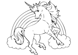 free forest unicorn coloring page for unicorn coloring page on