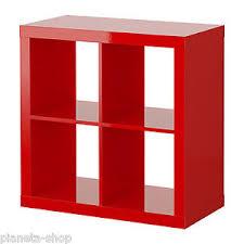 libreria kallax libreria scaffale 77x77 rosso lucido ikea kallax ex expedit ebay