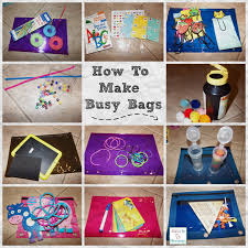 how to make busy bags for kids great for home or on the go using