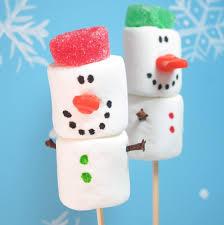 snowman marshmallows marshmallow snowmen easy christmas or winter treat ideas