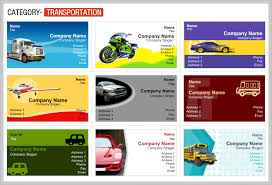 transport business cards templates free trucking transport