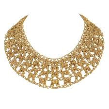 bib necklace images Zsa zsa gold tone mesh bib necklace jpg