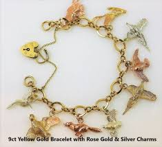 bracelet rose images 9ct rose gold and 9ct yellow gold charm bracelets fine shooting jpg