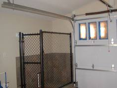 garage dog kennel doggy run inside garage with dog door to go inside or outside great