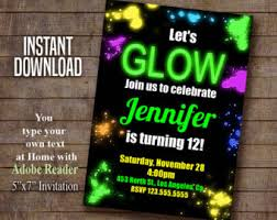 glow in the birthday party neon birthday invitation get your glow on glow in the
