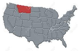 Montana Usa Map by Political Map Of United States With The Several States Where