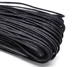 necklace cord images 5m black waxed cotton necklace bracelet jewellery making cord jpg