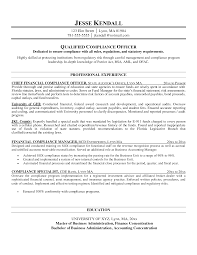 Police Academy Resume Office Compliance Officer Resume