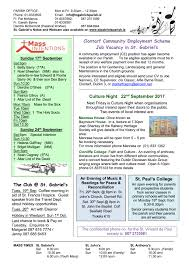 September 2017 Archives Page 616 Parish Notes 17th September