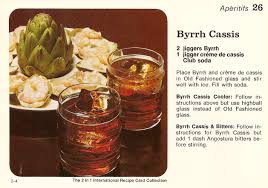 canapes vintage byrrh cassis shrimp artichoke canapés vintage recipe cards