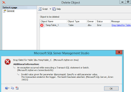 How To Delete A Table In Sql Unable To Delete Table