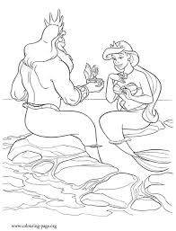 coloring pages of the little mermaid the little mermaid king triton gives a gift to the queen