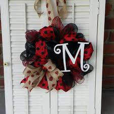 ladybug ribbon best black burlap wreath products on wanelo