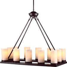 faux candle light fixtures faux pillar candle chandelier wayfair