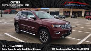 overland jeep cherokee new 2017 jeep grand cherokee overland sport utility in pearl city