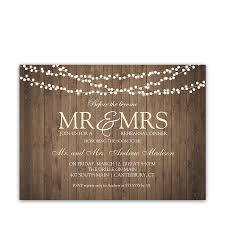 rehearsal dinner invite rustic string lights wedding rehearsal dinner invite