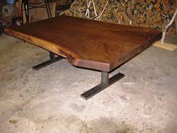 black walnut coffee table steel