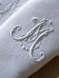 set 12 antique french 19thc linen damask napkins monogram sm or