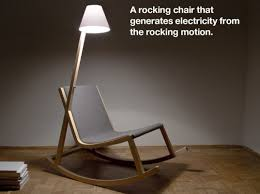 Rocking Chair Uses Motion To Power Attached OLED Lamp Inhabitat - Design rocking chair