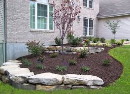 landscaping boulder walls retaining st louis landscape design best