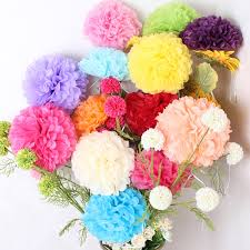 30pcs mixed size 3 sizes 20cm 25cm 30cm tissue paper pom poms