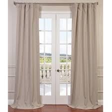 faux linen curtains wayfair