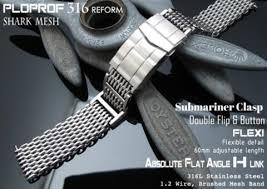 mesh steel bracelet images Rolex watch bracelet flexi ploprof 316 reform quot shark quot mesh band jpg