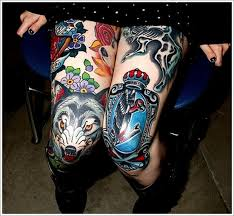 amazing wolf designs for on thigh traditional