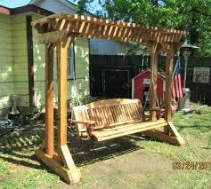 backyard swing bench benches outdoor swing chair cushions diy