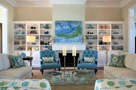 Blue Chairs For Living Room Amazing Blue Chairs And White Sofa With Beautiful White Wall As