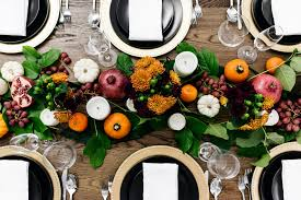 a festive thanksgiving tablescape happy grey lucky
