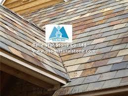 Tile Roofing Materials Multicolour Riven Slate Roof Tiles Split Slate