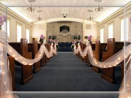 church decorations for wedding the lighted tulle a definite aisle possibility our