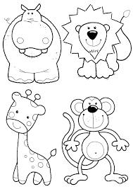 animales la selva colorear dibujos colorear