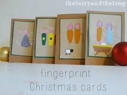 the fairy and the frog homemade fingerprint christmas cards