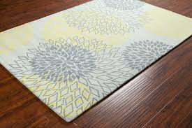 Area Rugs India Stella Collection Tufted Area Rug In Grey Yellow Design By