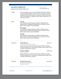 Easy Resume Templates Free Free Modern Resume Template Resume Template 7 Simple Templates