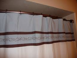 Small Shower Curtain Rod Decorating White Shower Curtains With Curved Curtain Rod For