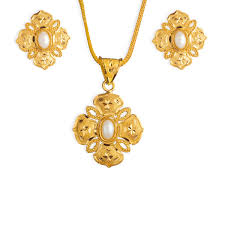 buy intricate golden tanishq pendant set for at best price