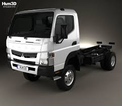 mitsubishi truck mitsubishi fuso canter fg wide single cab chassis truck 2016 3d