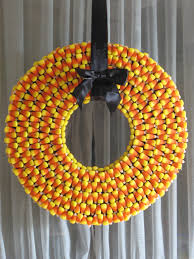 How To Make Halloween Wreaths by Make A Candy Corn Wreath For Halloween U2013 Myfixituplife