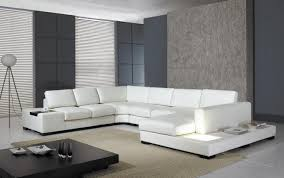 White Sectional Sofa With Chaise Furniture Trendy Contemporary Modern White Sectional Sofa Photo