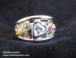 design a mothers ring a unique way to show your family birthstones two tone multi