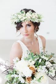 floral headpiece bridal flower wreath ivory flower crown bridal hair crown