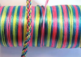 rattail cord 200 neon blend satin cord rattail 2mm bright multi colored
