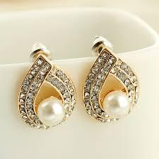 most beautiful earrings fashion popular korean jewelry most beautiful rhinestone