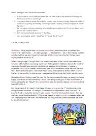 reading comprehension and speaking practice