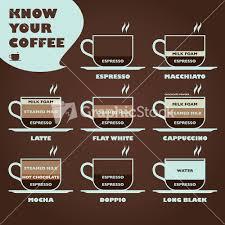 espresso drinks du espresso vector graphic