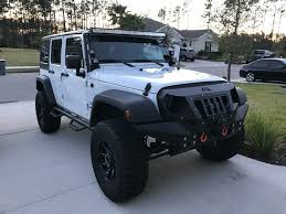 jeep matte blue fab fours full width grumper for 07 18 jeep wrangler jk quadratec